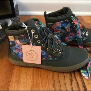 NWT Keds x Rifle Paper Co Scout Boots